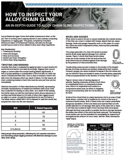 Guide to Inspecting Alloy Chain Slings