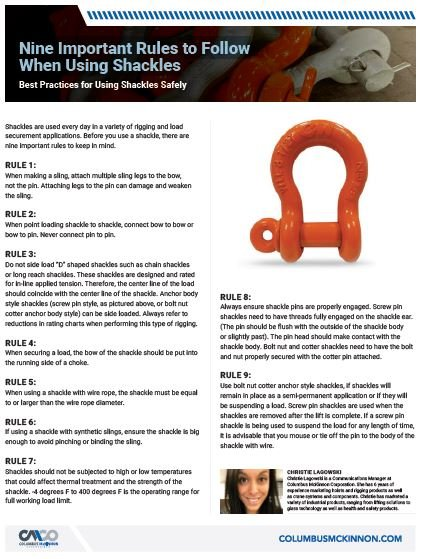 shackle rules